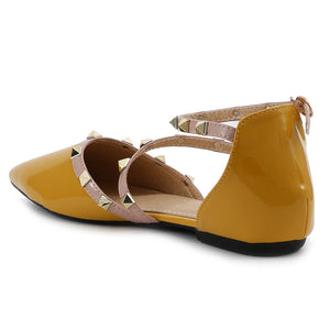 Yellow Patent Flats SB-524