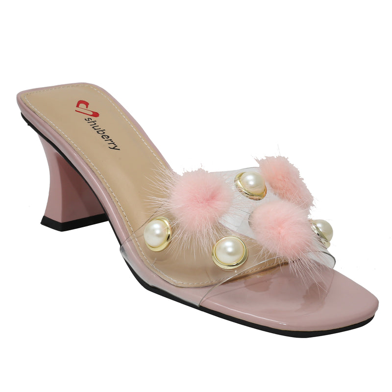 Pink Synthetic Party Heels SB-527
