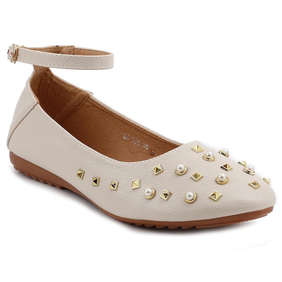 Beige Artificial Leather Bellies SB-531