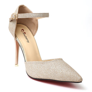 Champagne Fabric Party Heels SB-539