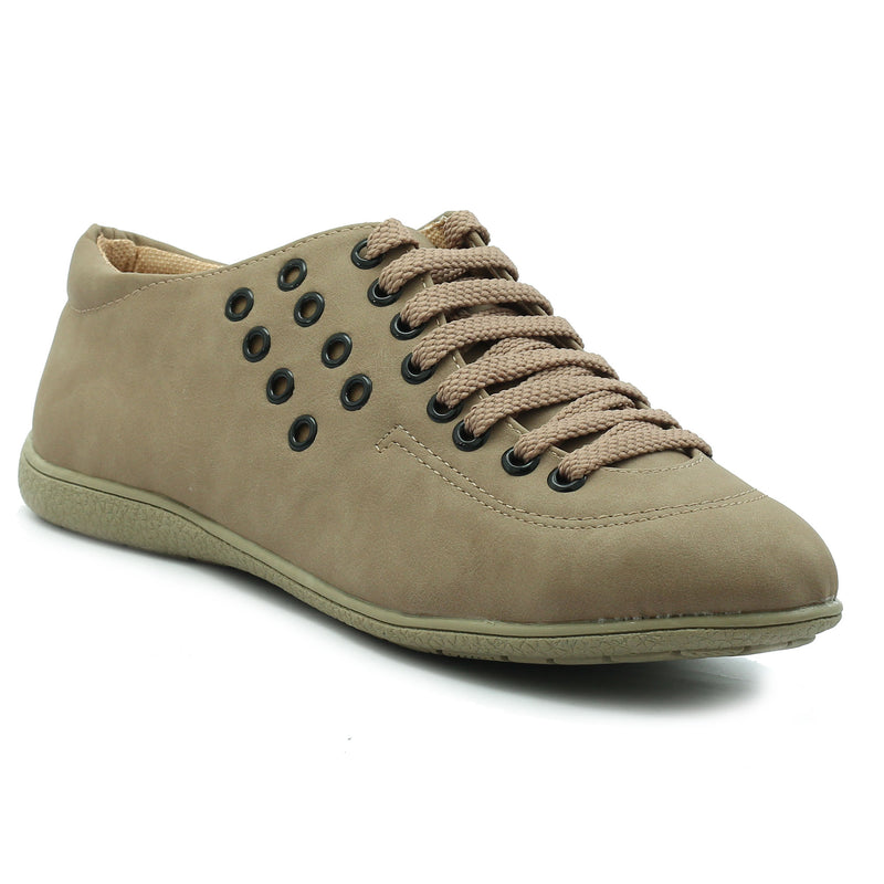 Khaki Grey Synthetic Sneaker SB-764