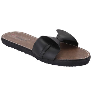 Black Artificial Leather Flats - SB-Z1811