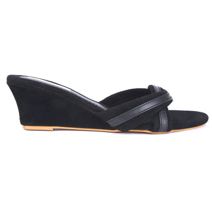 Black Velvet Wedges SB-Z1819