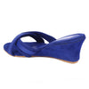Blue Velvet Wedges SB-Z1819