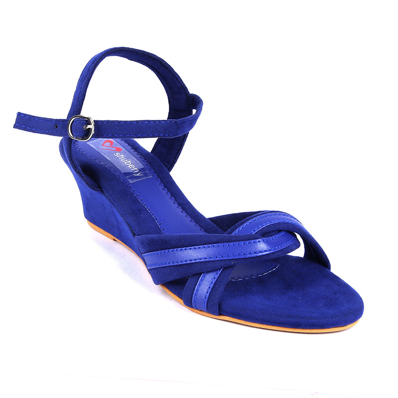 Blue Velvet Wedges SB-Z1820