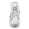White Faux Leather Sneakers  SB-260