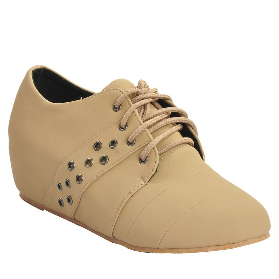 Beige Faux Leather Casual Shoe SB-447