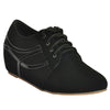 Black Faux Leather Casual Shoe SB-446