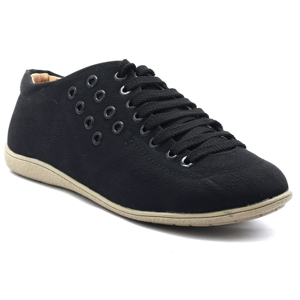 Black Synthetic Sneaker SB-764