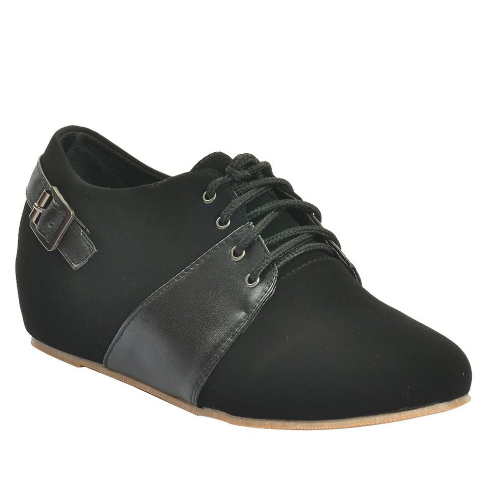 Black Faux Leather Casual Shoe SB-448