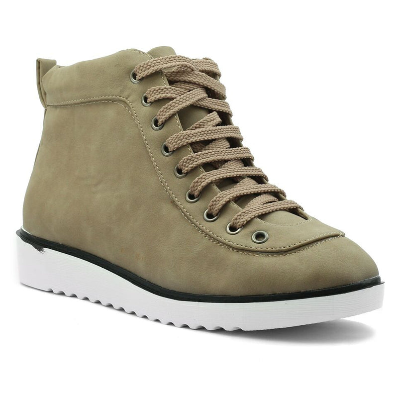 Khaki Artificial Leather Sneaker SB-455
