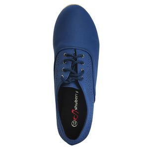 Navy Faux Leather Oxford SB-485