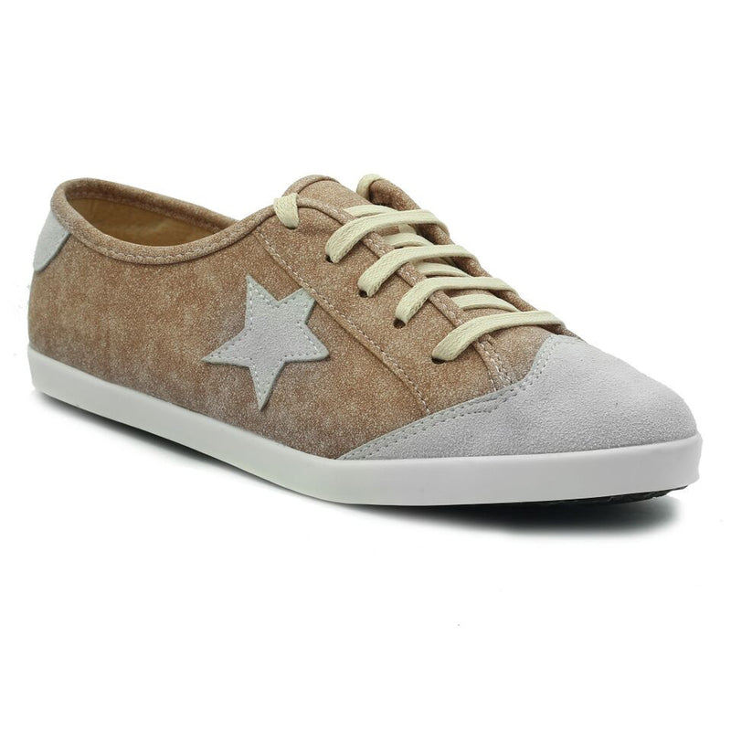 Peach Faux Leather Sneaker SB-469