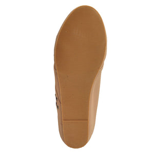 Peach Faux Leather Casual Shoe SB-447