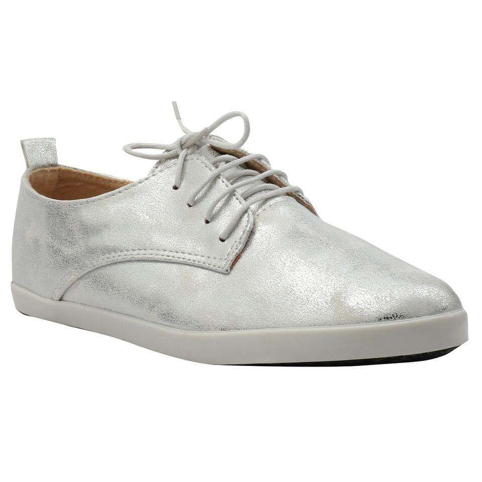 Silver Artificial Leather Sneaker SB-472