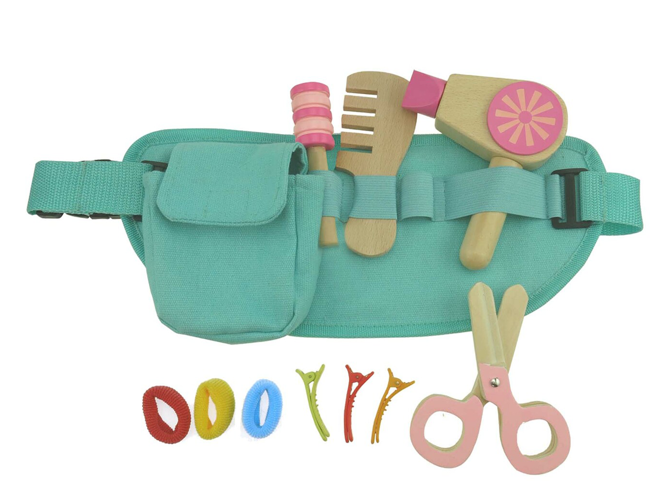 Kaper Kidz Wooden Hairdresser Belt Playset