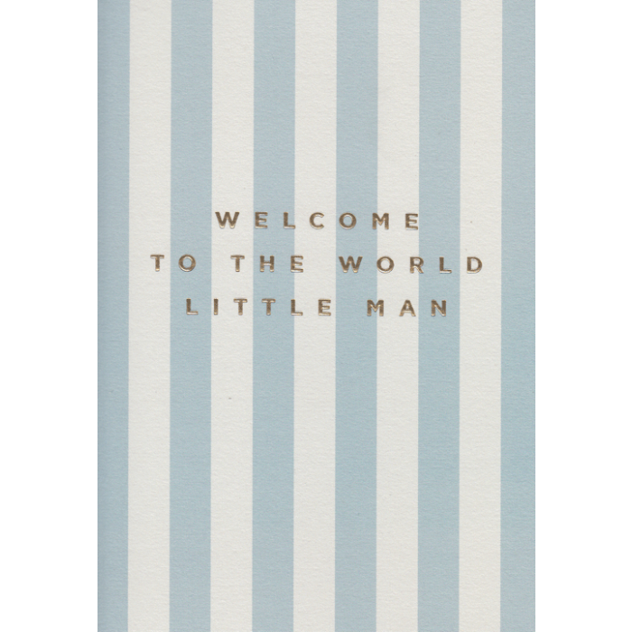 Welcome Little Man Card