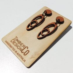 Timber Design Co Wooden Earrings Style 2