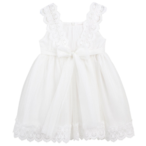 Designer Kidz Cynthia Lace Dress Ivory