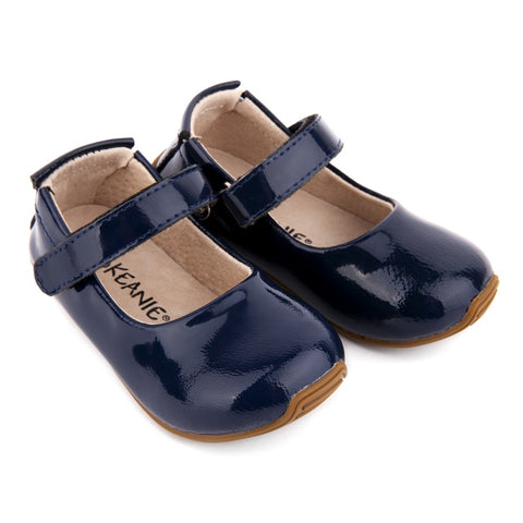 Skeanie Leather Shoes Patent Mary Jane Navy
