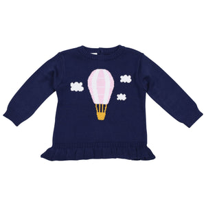 Korango Hot Air Balloon Knit in Navy