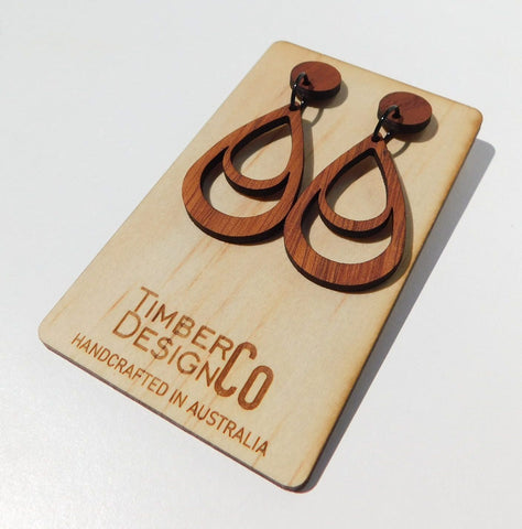 Timber Design Co Wooden Earrings Style 1
