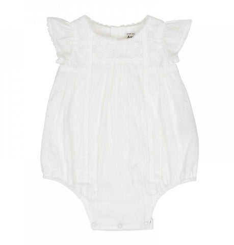Arthur Avenue Milk White Delicate Playsuit