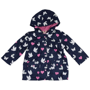 Korango Rainwear Birds N Butterflies  Colour Change Navy