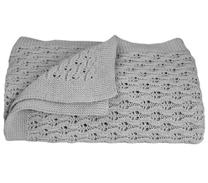 Living Textiles Cotton Baby Shawl Grey