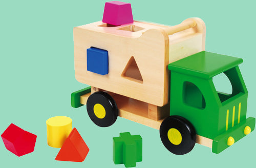 Sort and Tip Wooden Truck