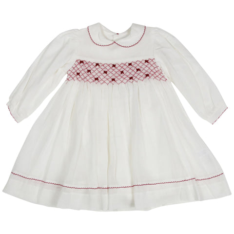 Korango Collar Smock Dress - Ivory