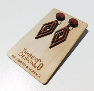 Timber Design Co Wooden Earrings Style 3