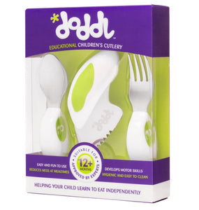 Doddl Knife Fork & Spoon Cutlery Set Lime