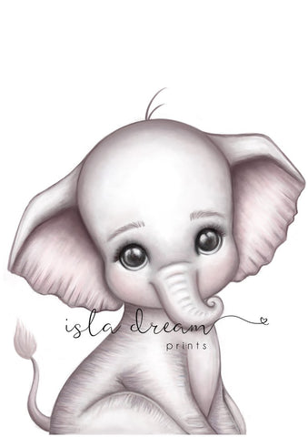 Isla Dream Print Theodore the Elephant