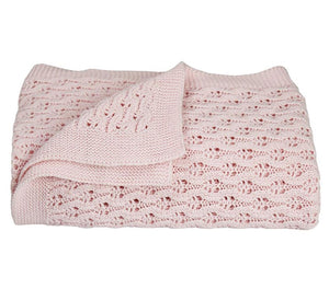 Living Textiles Cotton Baby Shawl Pink
