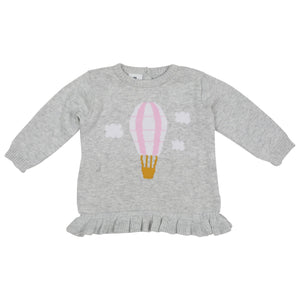 Korango Hot Air Balloon Knit Sweater grey