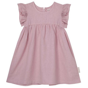 DK Frill Sleeve Dress - Dusty Pink