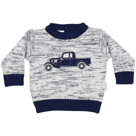 Korango Boys Navy Ute Knit Sweater