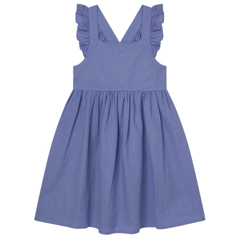 DK Frill Sleeve Dress - Pacific Blue