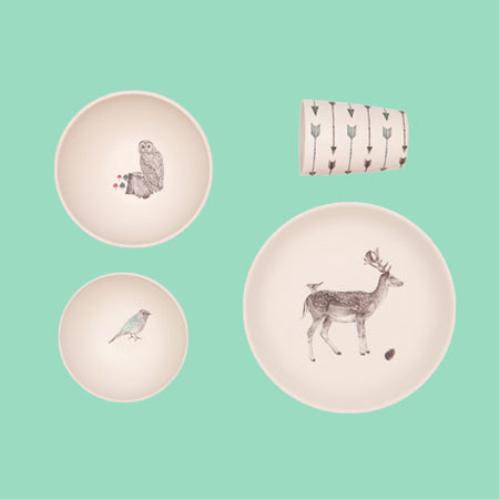 Forest Supper Bamboo Dinnerware - Love Mae