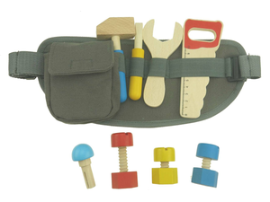 Kaper Kidz Wooden Tool Belt Playset
