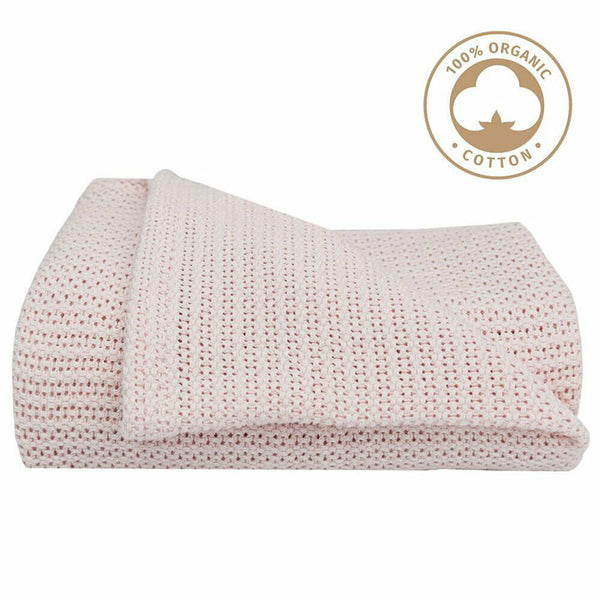 Organic Bassinet Cell Blanket - Rose Quartz