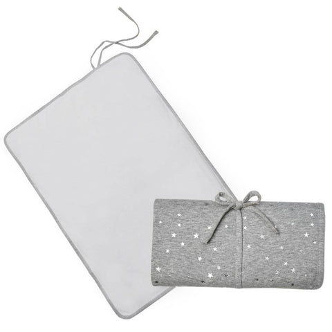 Living Textiles Travel Change Mat Silver Stars
