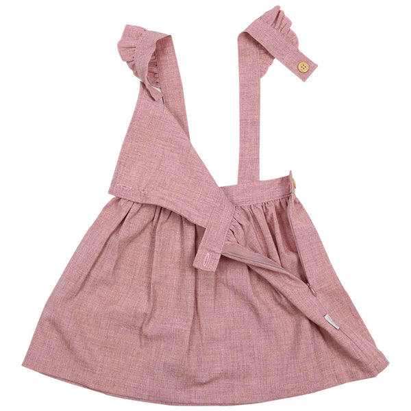 Korango Girls Frill Pinafore Dress Pink