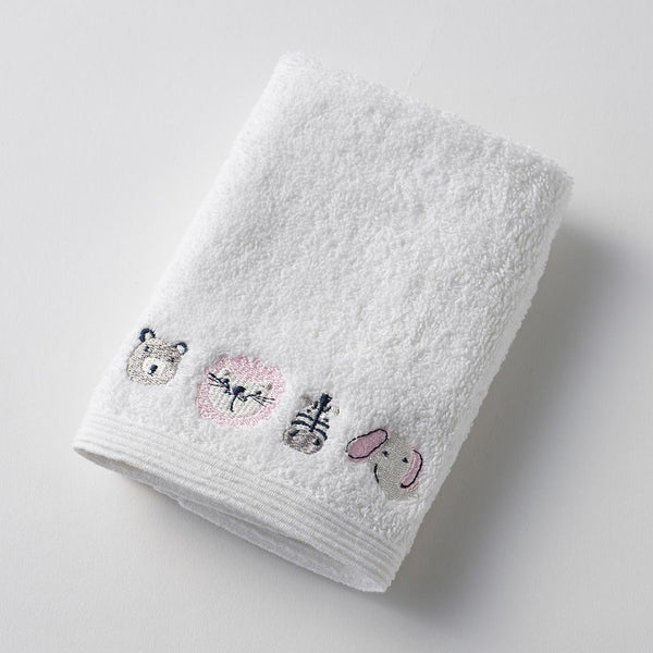 Pink Baby Jungle Towel & Washer Set