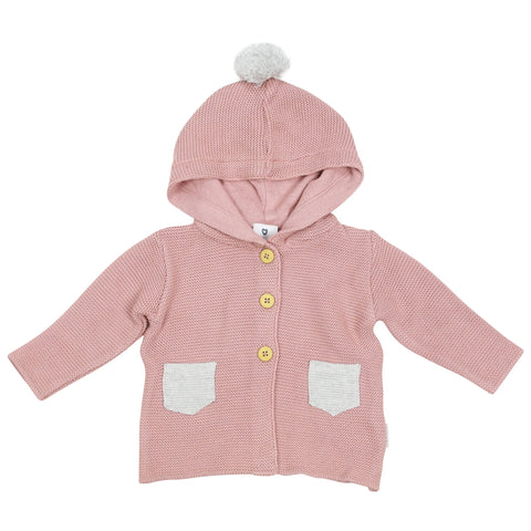 Korango Bunny Knit Jacket Contrast Picket