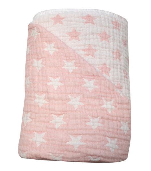 Spotty Giraffe Muslin Quilt Strawberry