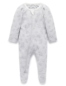 Purebaby Outback Zip Growsuit Grey