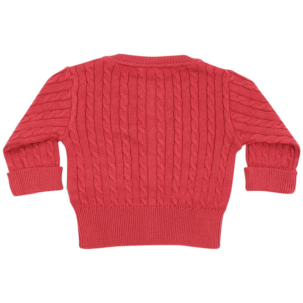 Korango Vintage Cable Knit Cardigan Red