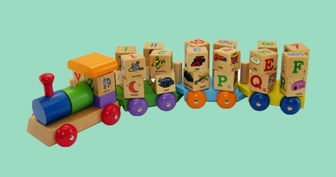 Spinning Block Toy Train